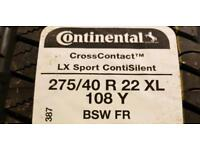 BIG TYRE SALE 275/40/22 continental