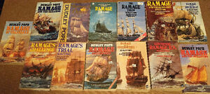 Dudley Pope   Ramage- Large set of 27 Historical Naval Novels