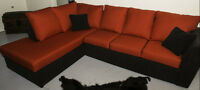 Sofa rouge / Red couch $1000 Nego Ottawa
