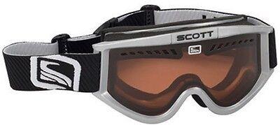 Scott Heli OTG Silver Ski Snowboard Goggles Amplifier NEW Over Glasses