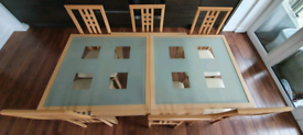 Extending Dining Table & 7 Matching Chairs