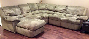 Sectional Couch with Recliner Seats