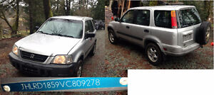 Wanted Honda CR-V 1997- Parts car. Drive shaft to the rear axle.