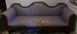 2 Vintages sofas with beautiful solid wood frames Kitchener / Waterloo Kitchener Area image 2