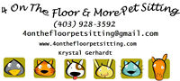4 On The Floor & More Pet Sitting- Accepting New Clients!