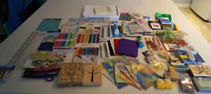 Card making and scrapbooking supplies lot