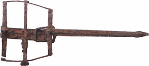 ANTIQUE ANIMAL TRAP - HAND-WROUGHT