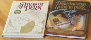 2 Books - Dragonlovers Guide & Atlas of Pern
