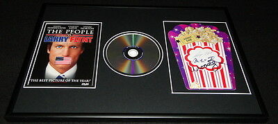 Larry Flynt Milos Forman & Woody Harrelson Signiert Gerahmt DVD & Foto Display ()