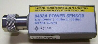 Agilent 8482a Power Sensor 1mhz-4ghz .3uw To 100mw Tested And Ready For Work