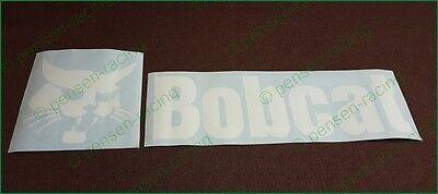 Bobcat Back Door White High Cast Decals Stickers Skid Steer 751 753 763 773 7753
