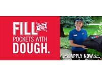 Part-time evenings Bike Delivery Drivers- Domino's Pizza