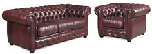 Lounge Suite Chesterfield 100% Leather 10yr Warranty Sumner Brisbane South West Preview