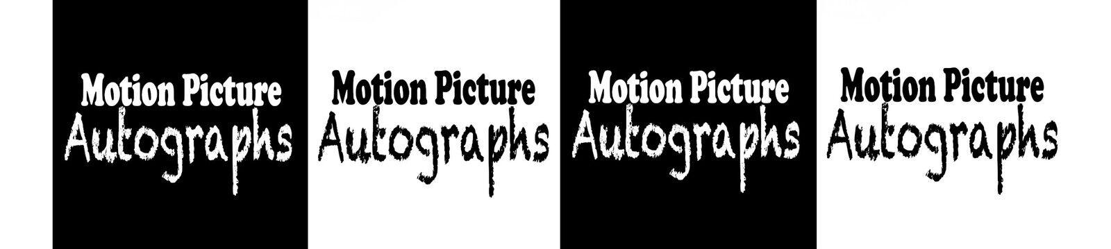 Motion Picture Autographs