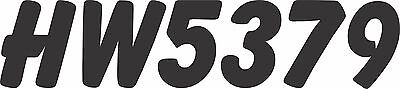 """SNOW MOBILE LICENSE DECALS HOWZAT 1-7/8"""" SNOWMACHINE,SLED REGISTRATION NUMBERS"""