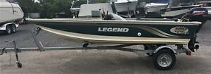 1999 Legend Boats Viper V-14 Side Console Mercury 15 forces