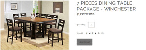 7 Pieces Dining Table Package