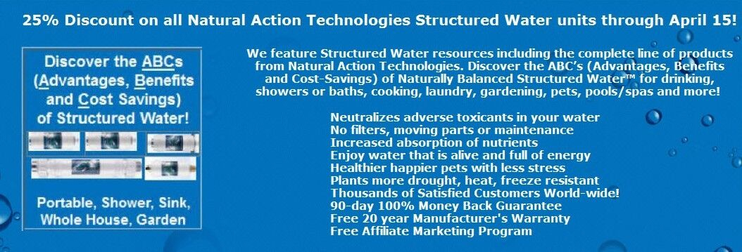 Structured Water Product Sales