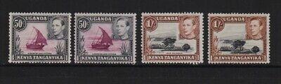 Kenya Uganda Tanganyika - #79, #79a, #80, #80a mint, cat. $ 51.25