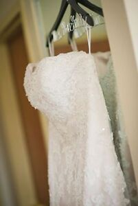 Lace, fit and flare wedding dress - size 16