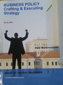Business Policy - Crafting & Executing Strategy