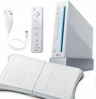 Wii Console, Wii Fit, Wii Guitar Hero Drums Guitar Microphone, Nunawading Whitehorse Area Preview