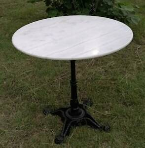 ROUND White MARBLE top TABLE Indoor Outdoor SAVE$$$ Woollahra Eastern Suburbs Preview