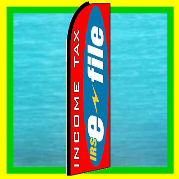 Irs Income Tax E File Feather Swooper Banner Ad Flag