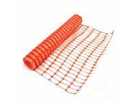 6 x Orange Plastic Fencing Mesh/Construction barrier Netting