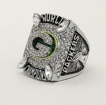 Used, World Champions Green Bay Packers Super Bowl Men's 925 Sterling Silver Ring  for sale  Shipping to United States