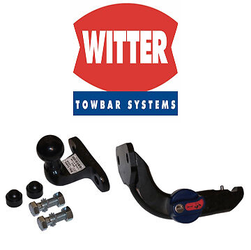 Example of a horizontal detachable flange neck type tow bar neck.