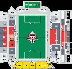 TFC tickets upper and lower sideline
