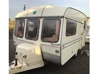 1987 Buccaneer Elan 12/2 Touring Caravan Very Clean but sold as spares or repairs