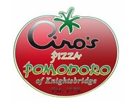 WAITING STAFF. Earn 500+ per week - World Famous PIZZA POMODORO - Italian Restaurant