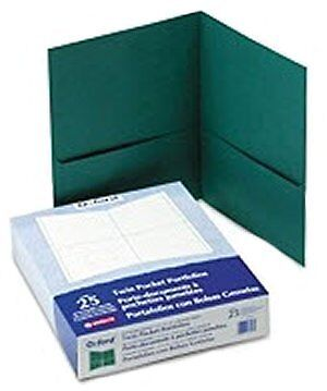 25 Pack - Oxford - Twin Pocket Portfolios, Hunter Green - Folders on Rummage
