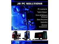Jb pc solutions upgrades,clean ups,virus removal & malware removal