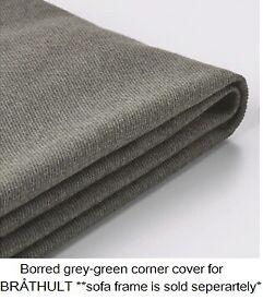 BRÅTHULT Cover for corner sofa, grey-green, IKEA Reading #BargainCorner