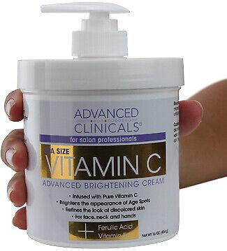 Advanced Clinicals Vitamin C 16oz Cream Advanced Brightening