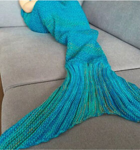 Child's Mermaid Tail Blanket