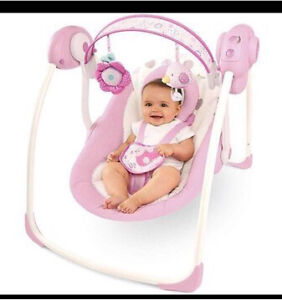 Portable baby girl swing!
