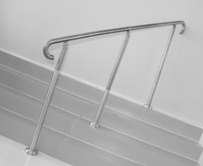 Hand Rail Banister Floor Mounted Stainless Steel Commercial Rated