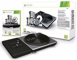 NEW XBOX 360 DJ HERO 2 BUNDLE VIDEO GAME TURNTABLE SOFTWARE GAMING MUSIC  83605569