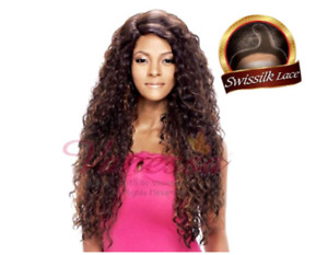 Vanessa Human hair blend C side part swiss silk lace front (Wig)
