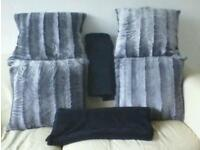 4 large cushions and 2 large throws perfect condition not long new £20.