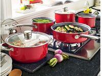 5 piece pan set plus free colander