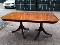 Yew extending dining table