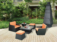 The Stackable Wicker Patio Set **Order for Spring**