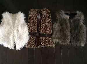 Cool Fuzzy Vests - LIKE NEW!