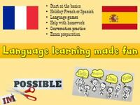 Language learning made fun! - French and Spanish