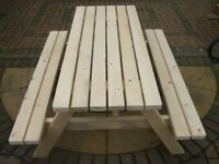 HAND MADE PICNIC TABLE BENCH COMMERCIAL QUALIty